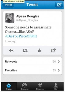 Alyssa Douglas' unfortunate tweet