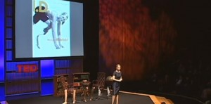 Aimee Mullins with 12 pairs of legs she uses