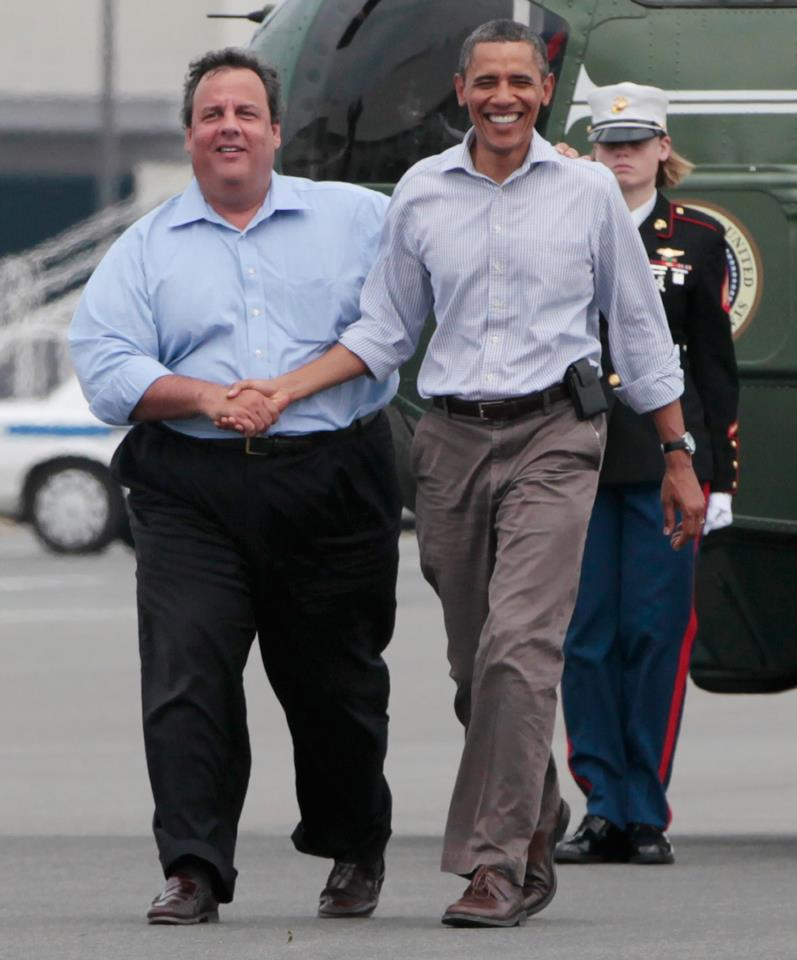 Christie thanks Obama for his help
