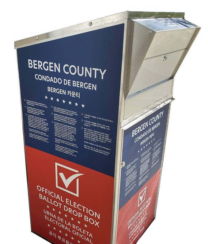 Bergen County ballot drop box