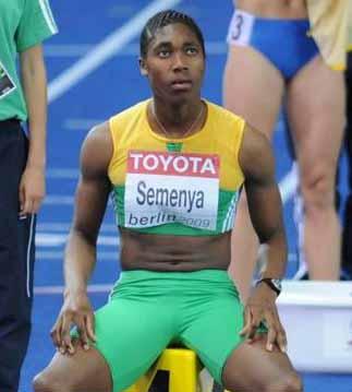 Caster Semenya sitting