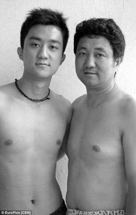 Chinese Father and Son in annual foto