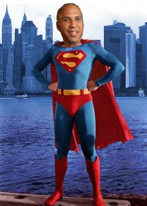 Cory Booker as superman