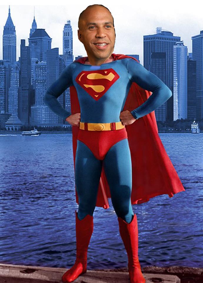 Cory Booker as superman