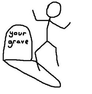 Dance on grave
