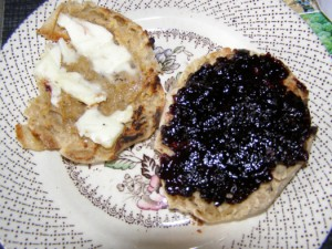 English Muffin with butter & jam