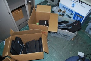 Hoboken laptops being discarded