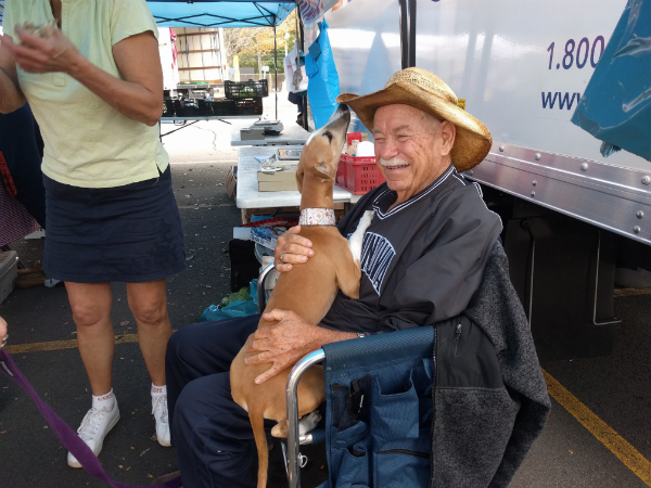 Jim Matarazzo with 4-legged friend