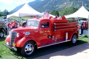 old red fire truck