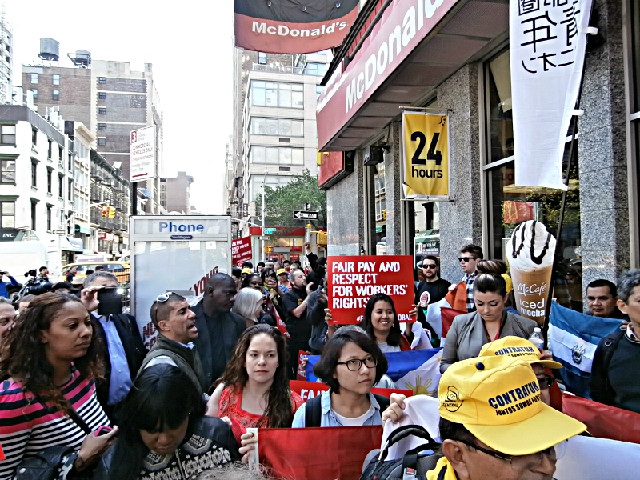 McDonalds NYC demo