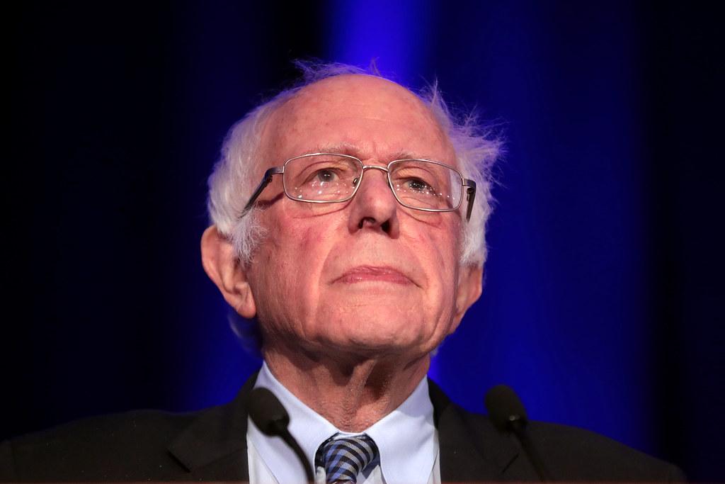 Sanders looking up