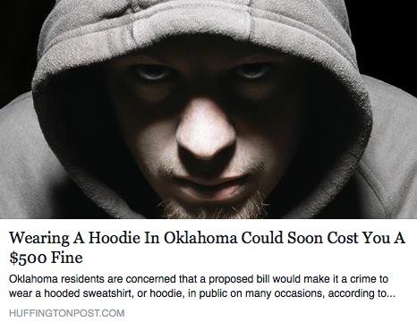 Oklahoma aims to outlaw hoodies