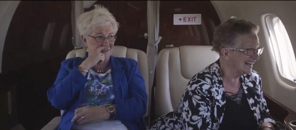 An & Ria on plane