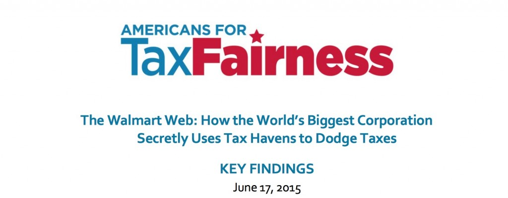 Walmart tax evasion report