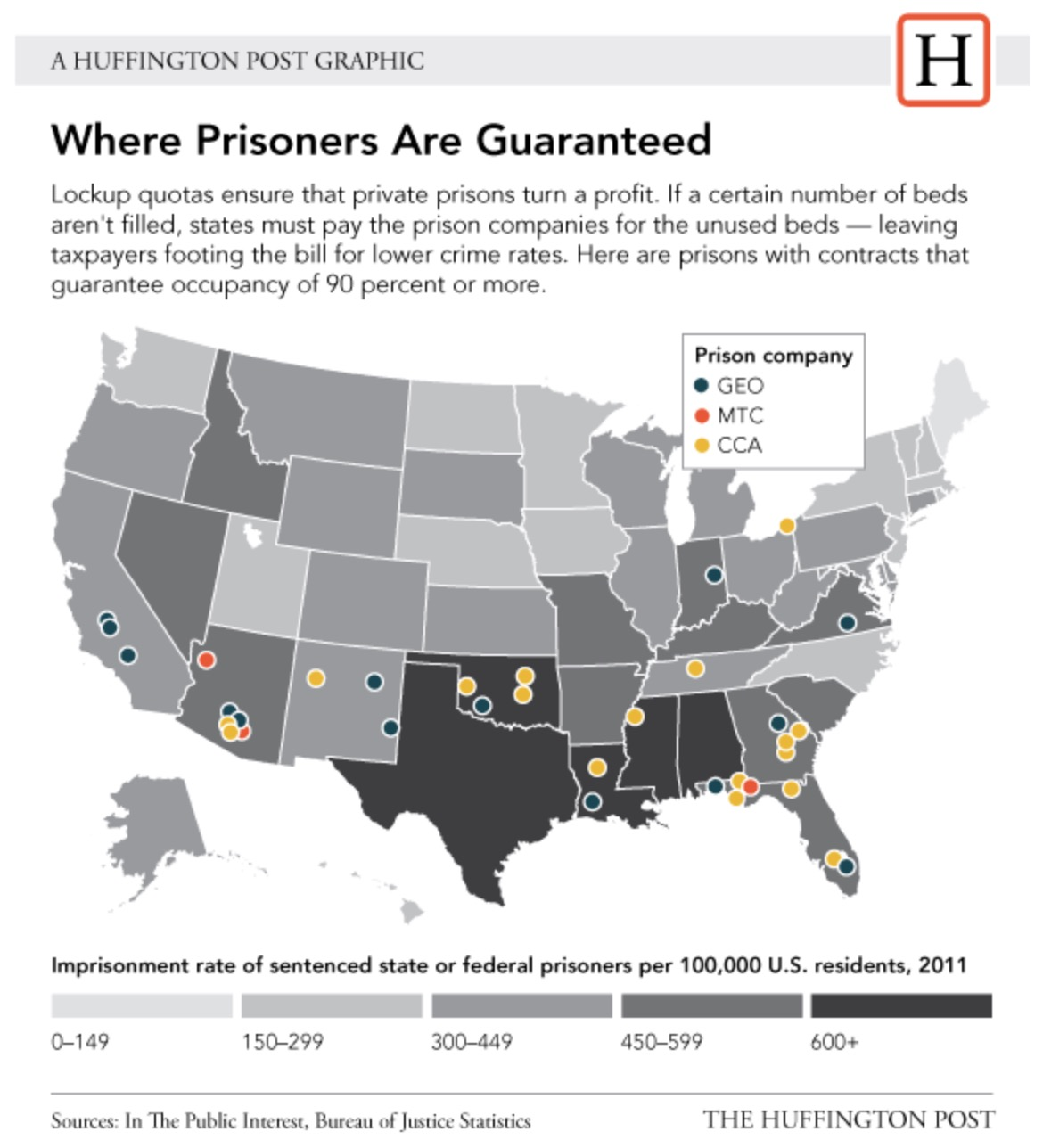 1 of US population in prison and they have 70100 occupancy