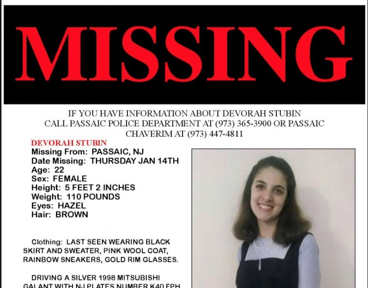 Deborah Stubin missing flyer