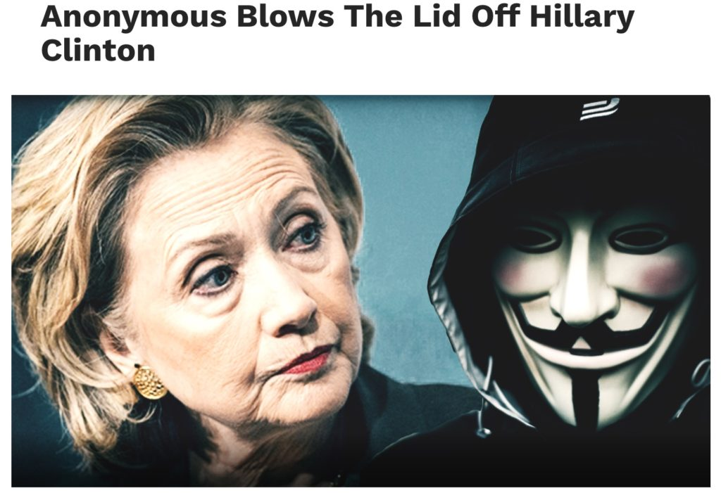 Anonymous blows lid off Hillary