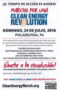 Marcha por una Clean Energy Revolution