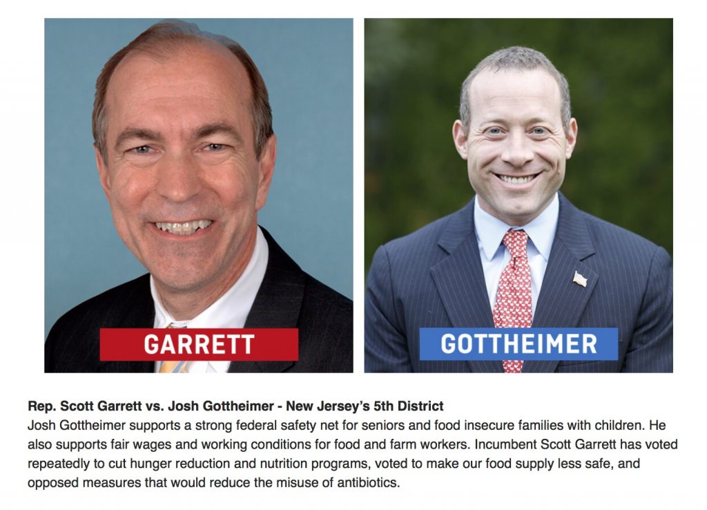 Josh Gottheimer v Garrett in NJ's 5th CD
