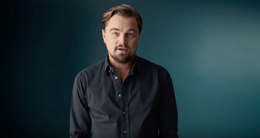 Leonardo DiCaprio says Vote