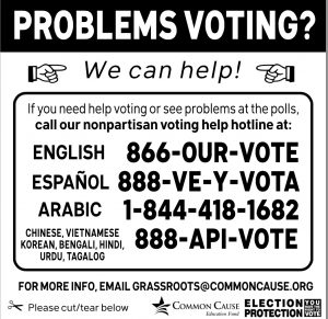 voting assistance flyer