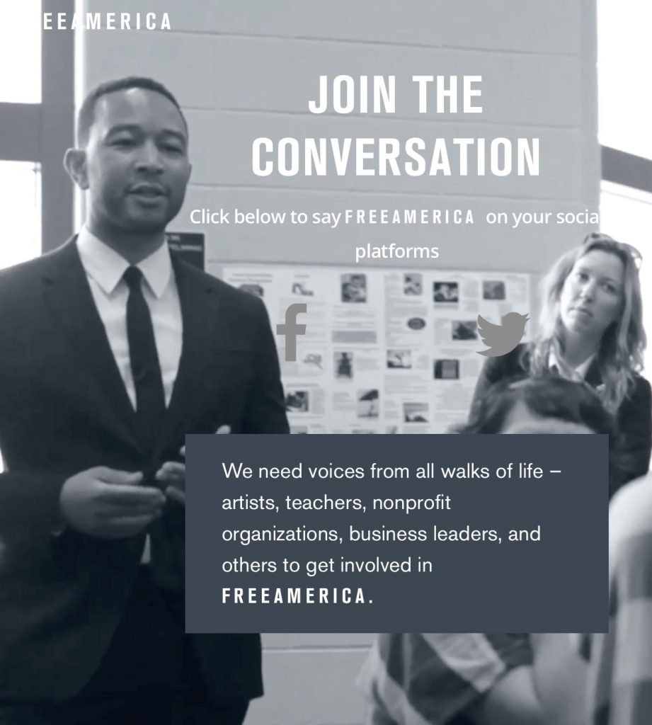John Legend invites you to join Free America