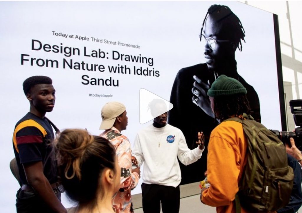 Iddris teaching design via Apple
