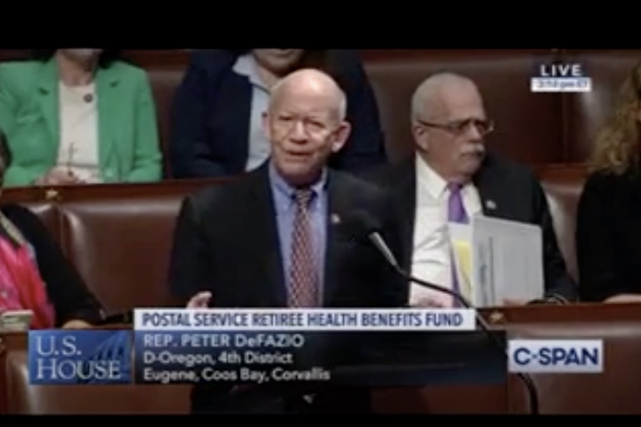 Rep Defazio introduces the USPS Fairness Act