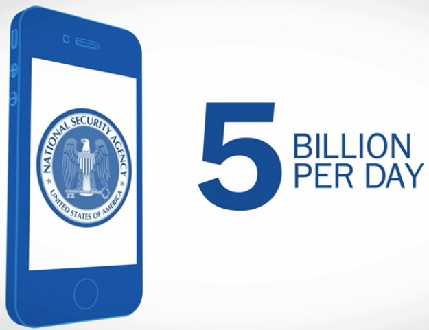 NSA Collects 5 Billion mobile records a day