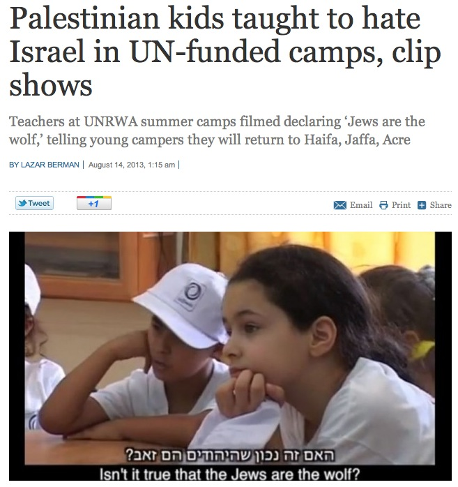UN Camp teaches Jew hatred