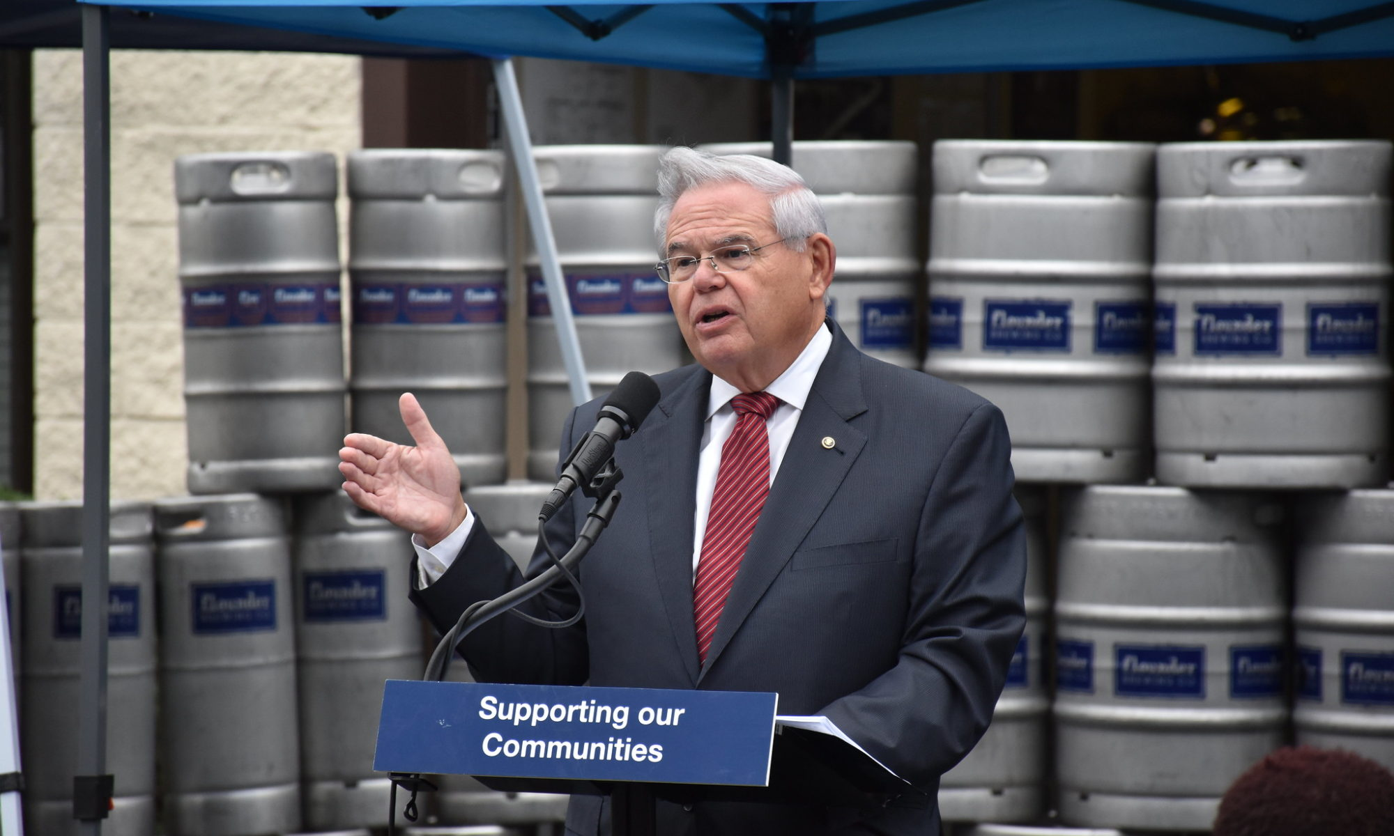 Sen Menendez announces