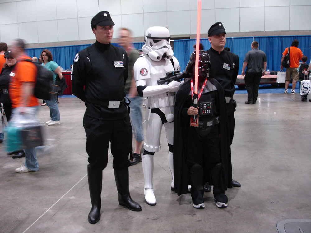 Star Wars fans in costume