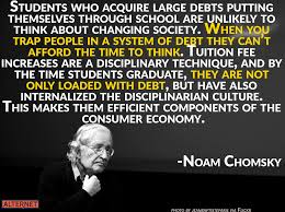 chomsky on student loan debt