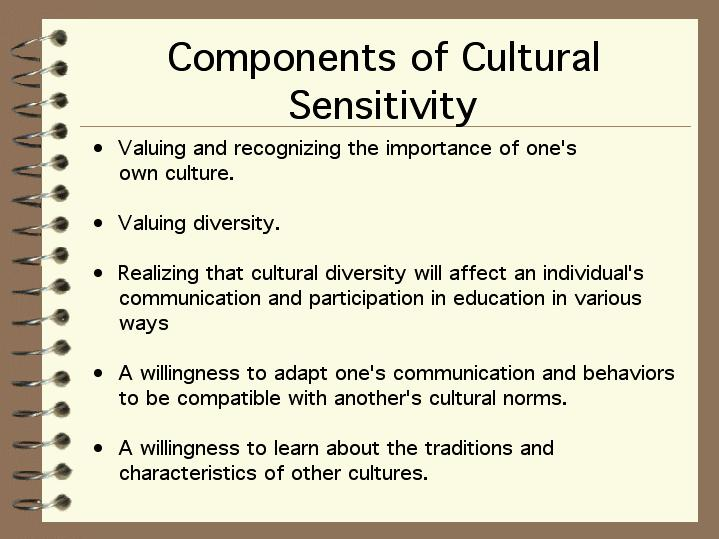 cultural sensitivity components