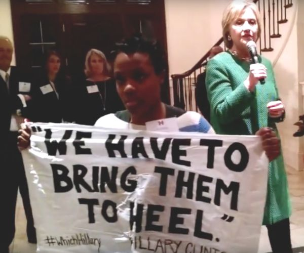 girl confronts Hillary over racist statements