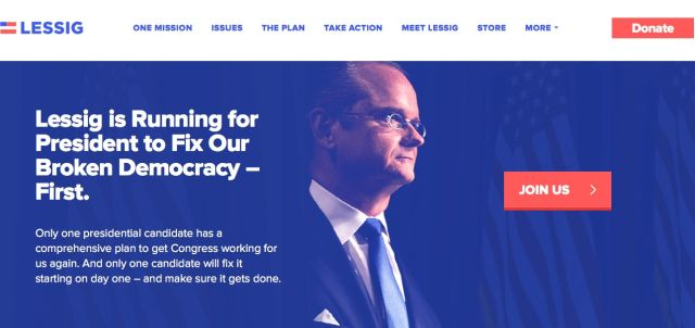 lessig campaign site header