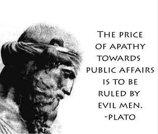 plato - the price of apathy