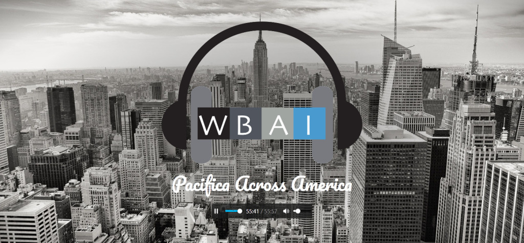 WBAI homepage screenshot