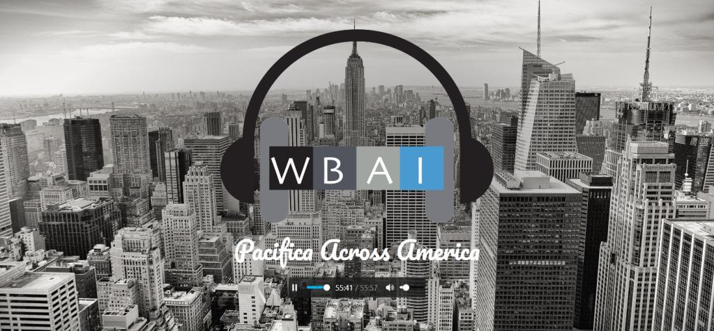 WBAI homepage screenshot